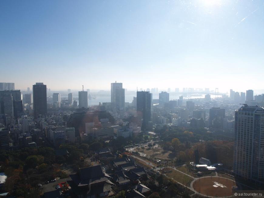 Вид с Токийской телебашни.