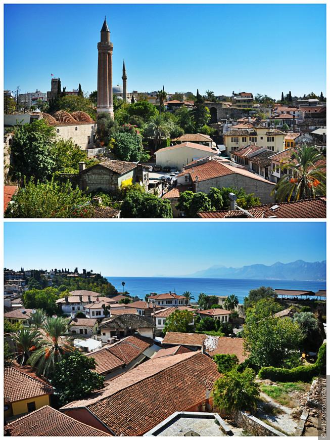 """Это сердце Анталии – старинный город Калеичи (Kaleiçı), переводится с турецкого как """"внутри кале """", то есть внутри крепости.Первоначально это был римский город, затем он стал византийским, а позже перешёл к туркам-сельджукам, и, наконец, к Турецкой Османской империи."""