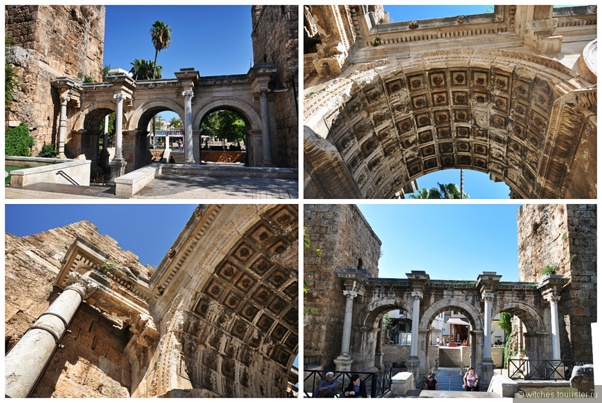 в 2009 сюда мы не дошли, о чем я жалела..  И вот они, Ворота Адриана, которые являются одним из самых древних памятников города, они были воздвигнуты в честь посещения города римским императором Адрианом в 130 году н.э.