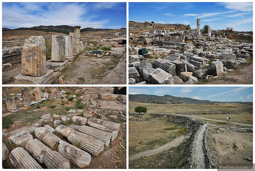 Руины античного города Хиераполиса, или «Священного города», находятся примерно в 17 километрах от провинциального турецкого городка Денизли. Они расположены на горной возвышенности, высота которой составляет 350 метров.