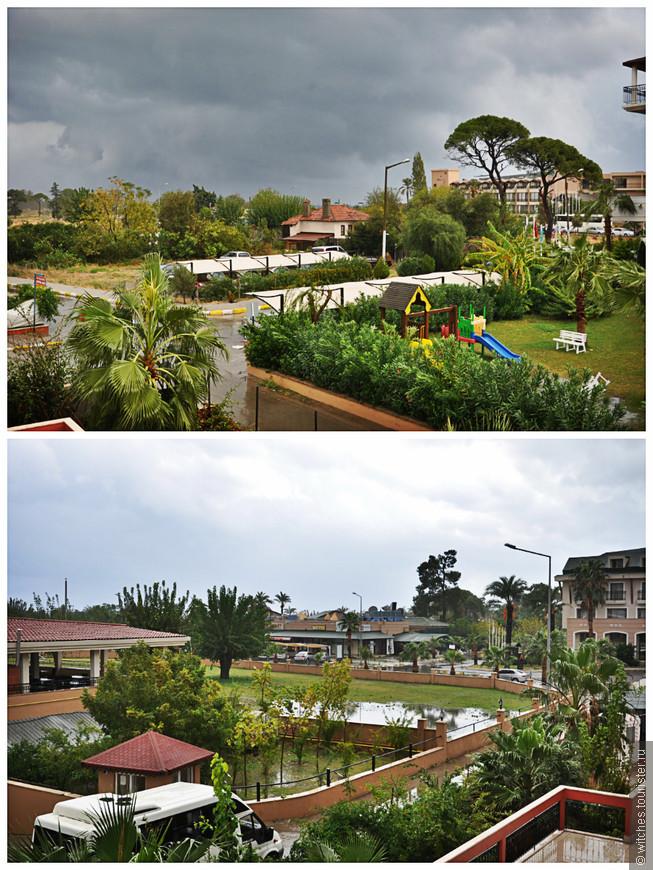 в последний день перед отъездом мы были вынуждены сидеть в отеле, тк оч сильно лил дождь и затопил все вокруг