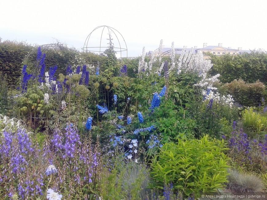 Голубой боскет в парке Рундальского дворца.