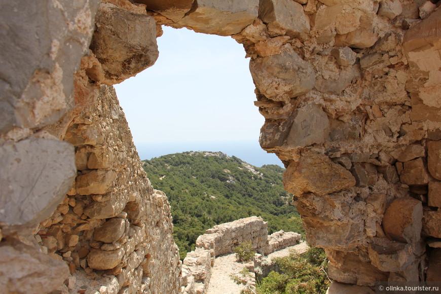Вид с Монолитоса на Эгейское море.