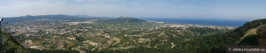 Следующая экскурсия. Город Родос+холм Филерримос. Панорама Родоса с холма Филеримос.