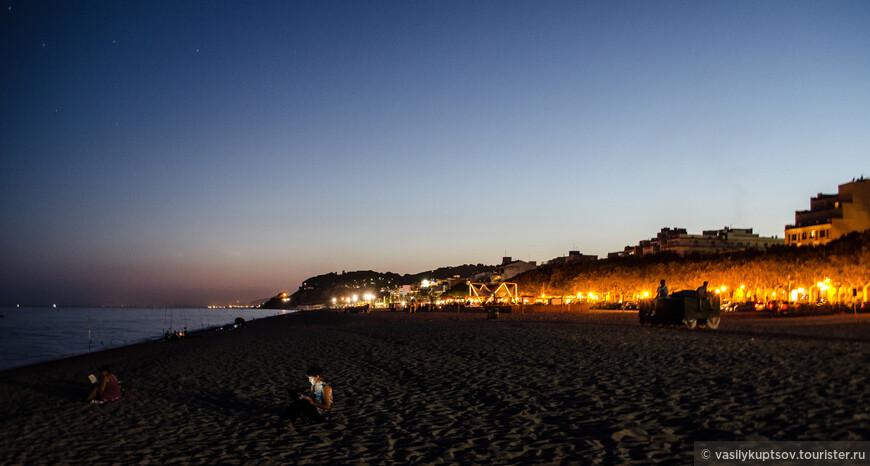 Каллея. Ночной пляж.