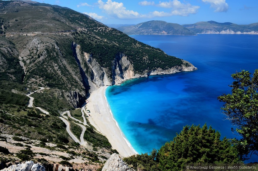 Изюминка Кефалонии - пляж Миртос.