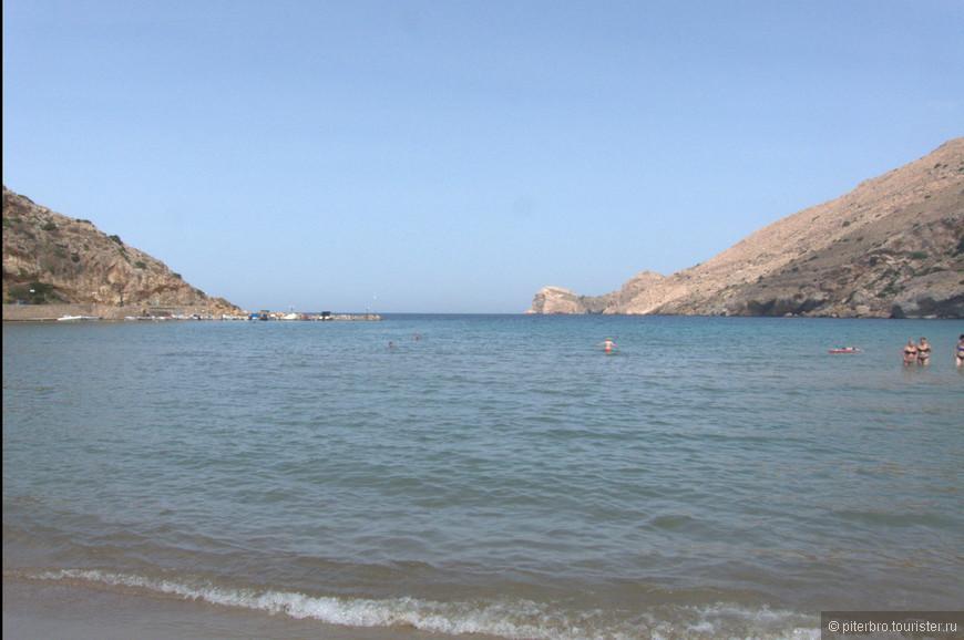 пляж у деревни Галиссас