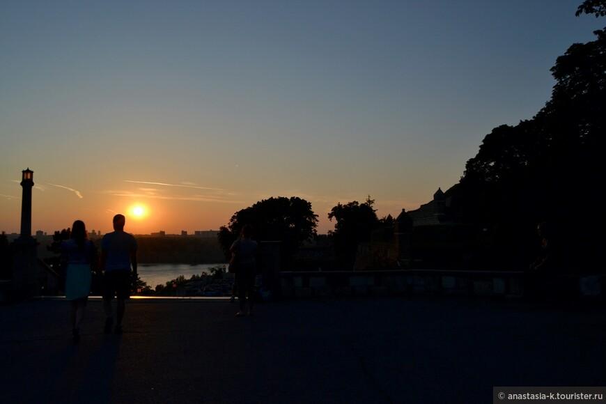 Немного романтики..закат в Калемегдане