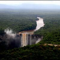 Водопад, затерянный в джунглях Южной Америки