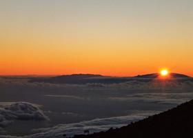 Закат на высоте 3500 метров над уровнем моря