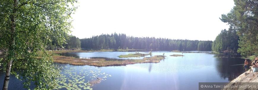 озеро Mustalampi ( Черное озеро ) с торфяной водой