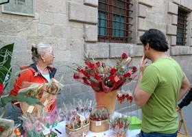 Прогулка по Барселоне — день книг,роз и любви