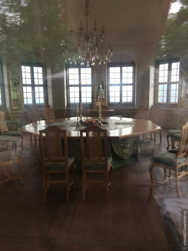 Внутренние убранство барочного павильона . Крепость Кёнигштайн , Саксония , Германия .