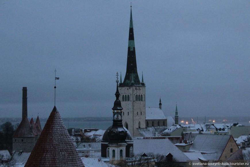 Вид на церковь святого Олафа