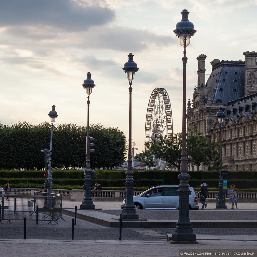 Вечером у Лувра