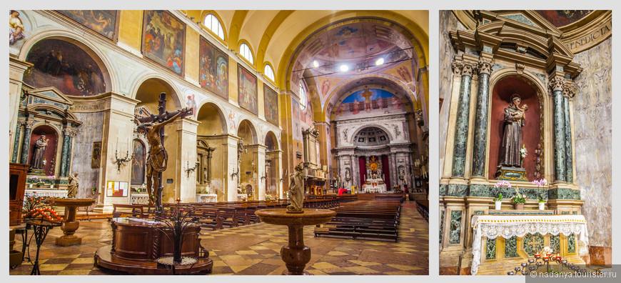 Basilica S. Maria del Carmine. Внутри она очень красивая и пустая. Когда мы зашли туда, были единственными посетителями.