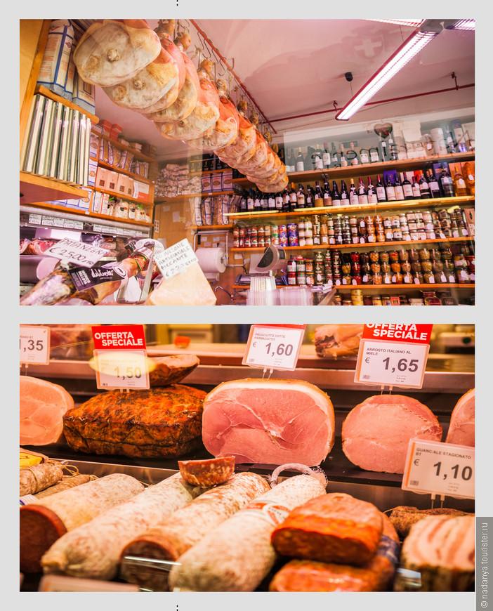 Во внутренних галереях начинается праздник мясоеда. В некоторых местах можно прям там за стоячики столиками скушать бутерброд с понравившейся колбаской.