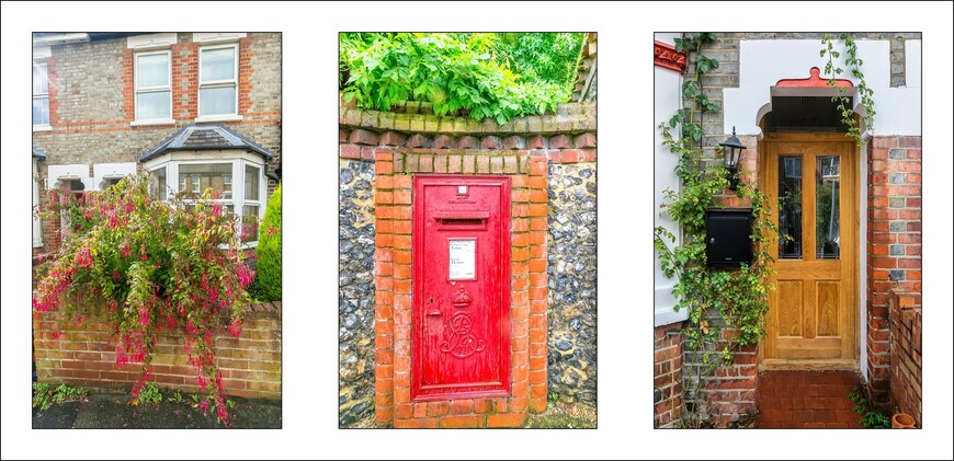 В центре кадра-почтовый ящик,принадлежащей самой Королеве. Почта в Англии-очень популярна и в наши дни.