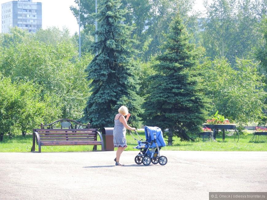 посетительница парка
