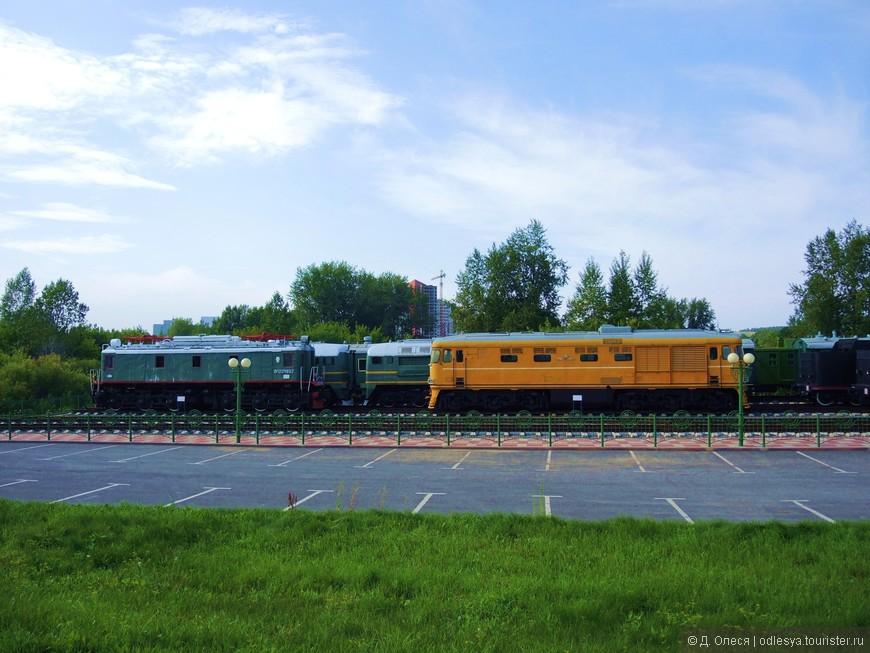 экспонаты музея железнодорожной техники