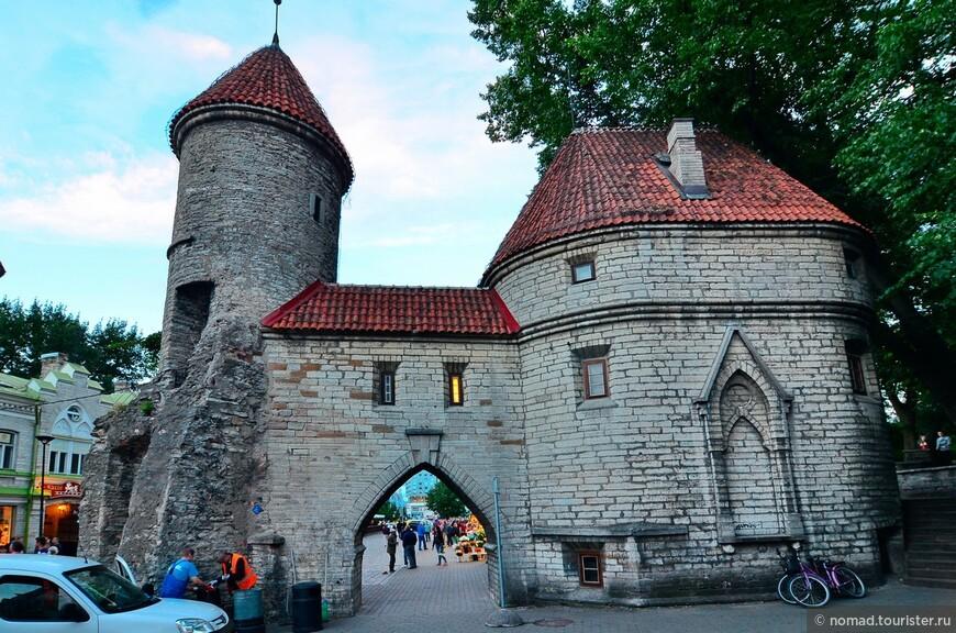 Вируские ворота. Вируские ворота были построены в XIV веке и до нашего времени сохранились лишь частично. Ворота находятся в восточной части городской стены. Сегодня ворота Виру по праву называют «дверью» в средневековое прошлое Таллина. Именно отсюда начинается большинство туристических маршрутов. С одной стороны простирается современный Таллин, застроенный торговыми центрами и небоскрёбами, а впереди — вымощенные булыжником улочки Старого города.