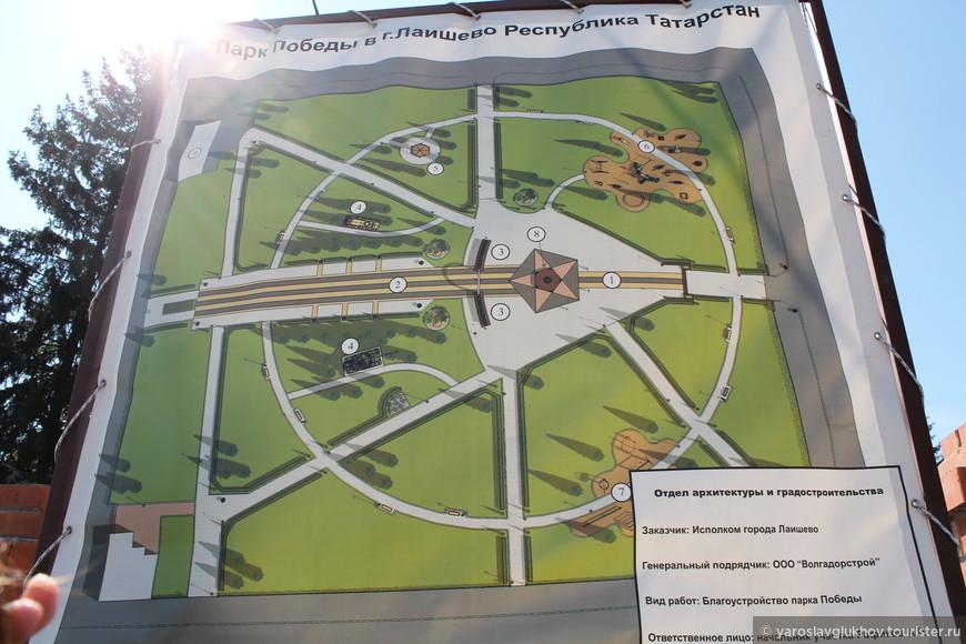 План реконструкции парка Победы.
