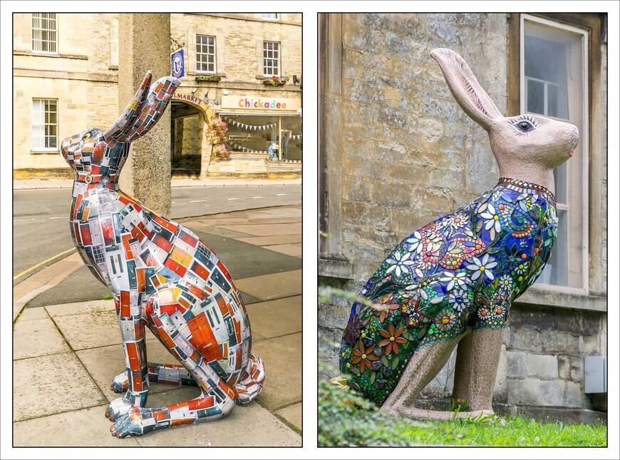 весь город украшен различными фигурами вот таких вот гигантских зайцев.