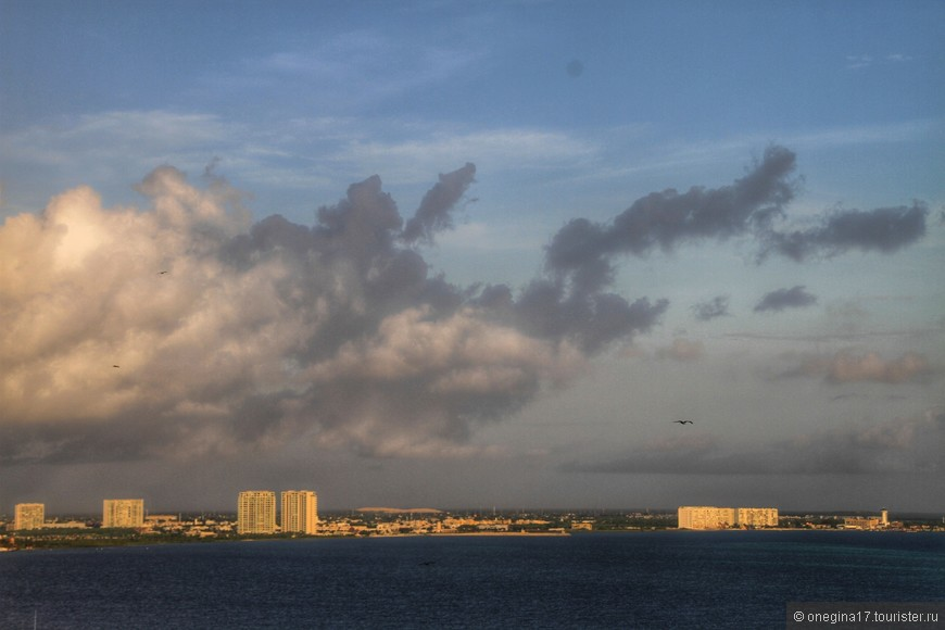 Вид на Канкун.
