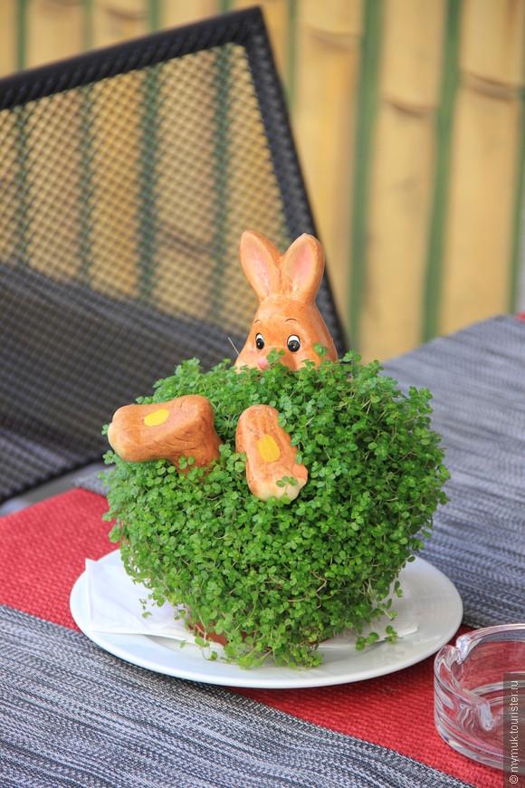 и зайцы , совершенно наглым образом залезшие в ваш букет на столиках в кафе)