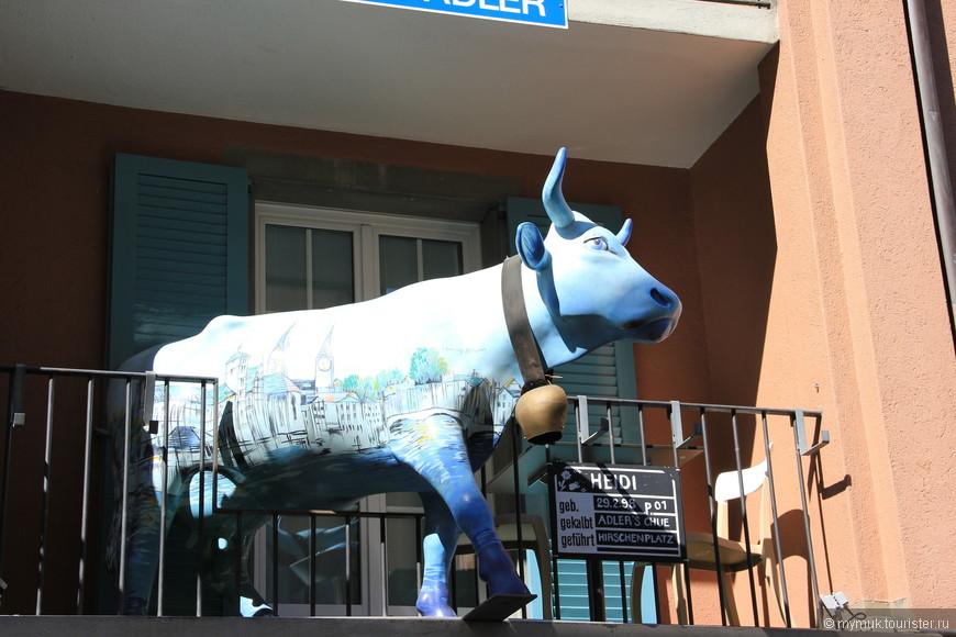 в Швейцарии коровы живут даже на балконах