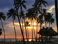 Гавайи. Когда солнце опускается в океан...
