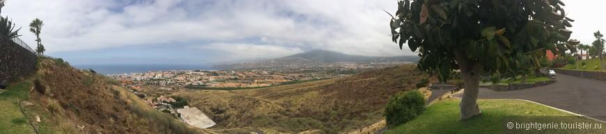 панорамный вид на Puerto de la Cruz