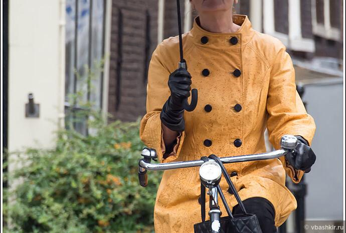 Поездка на велосипеде - совсем не повод не одеваться элегантно!
