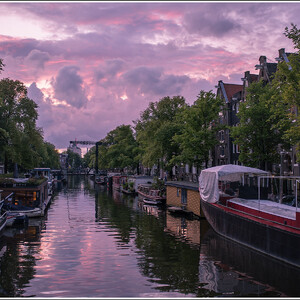 Закат над Browersgracht