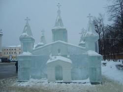В Литве построили ледовый дворец для Санта-Клауса
