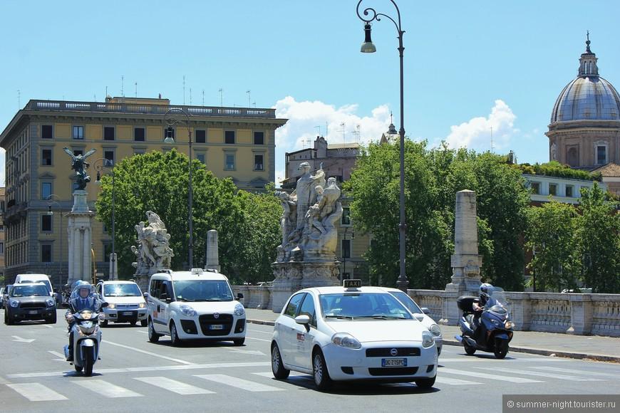 """3 день - обзор """"мостов со статуями"""". Понте Умберто 1"""