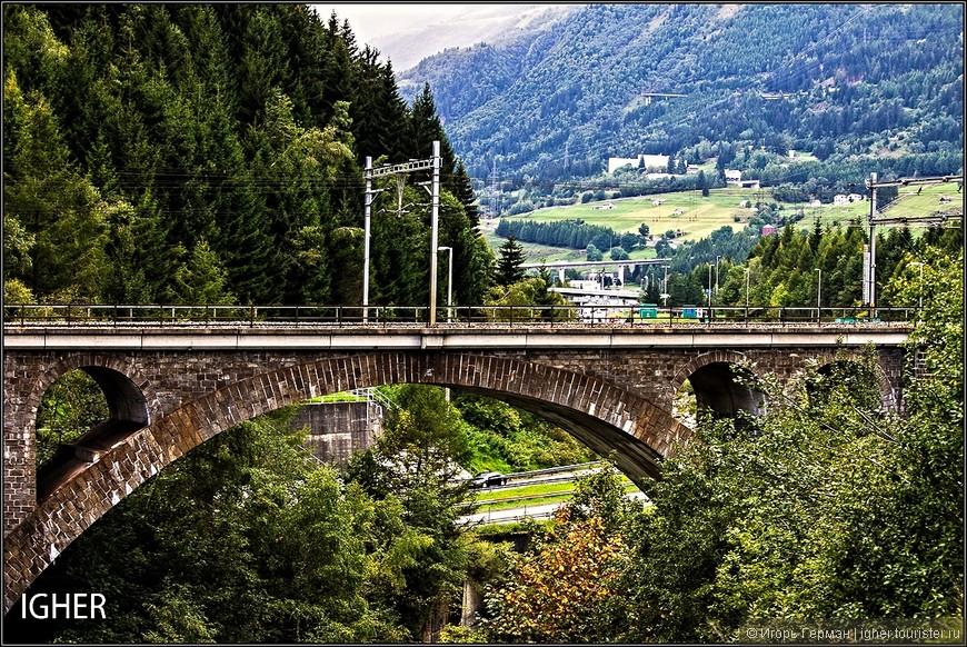 живописные альпийские пейзажи...