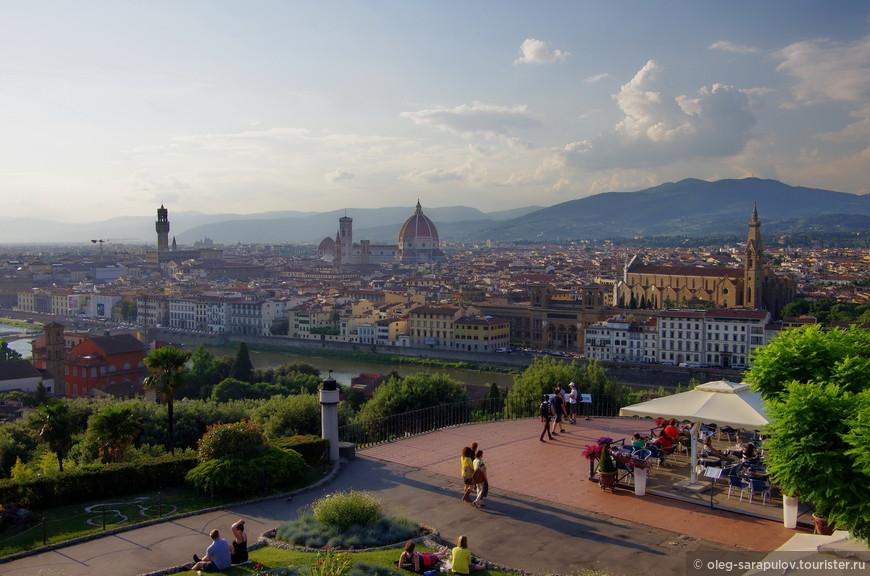 Смотровая площадка ниже площади Микеланжело