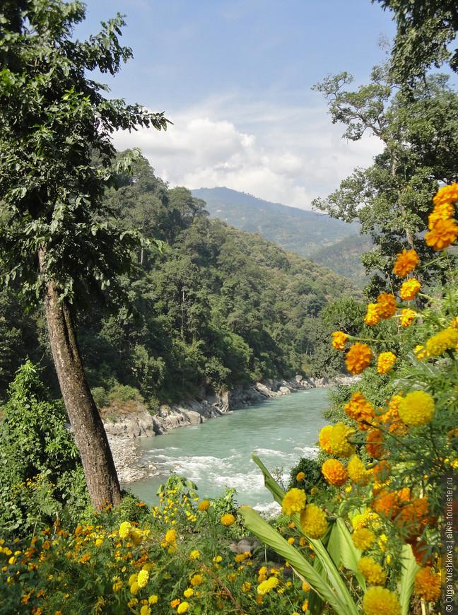 Тоже по дороге в Сикким. На очередном привале в местной деревушке решили спуститься вниз к реке, а там вот такая красота...