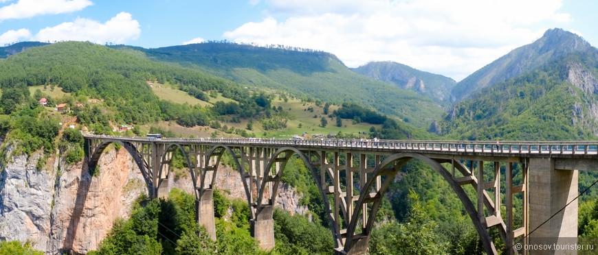 Мост через коньон, в свое время один из самых высоких в Европе