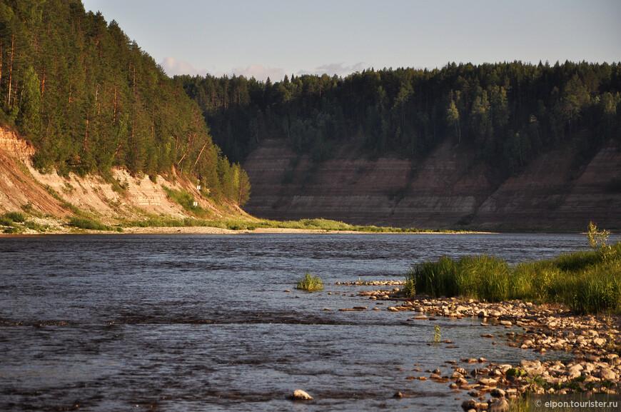 Река Сухона у деревни Опоки