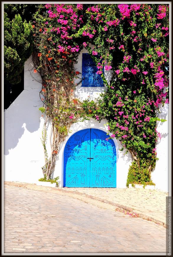 По его улочкам можно бродить целый день, наслаждаясь окружающей красотой, посидеть в кафе и выпить знаменитый тунисский чай с кедровыми орешками.