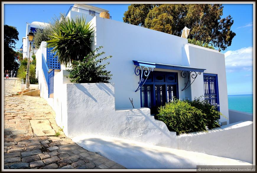 """Среди достопримечательностей Сиди-бу-Саида - несколько старинных особняков, - Музей арабской и средиземноморской музыки с коллекцией местных музыкальных инструментов, - кафе """"Натт"""""""