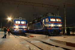 На Украине ограничено движение поездов из-за снегопада