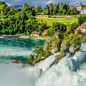 Рейнфолл. Шаффхаузен. Швейцария
