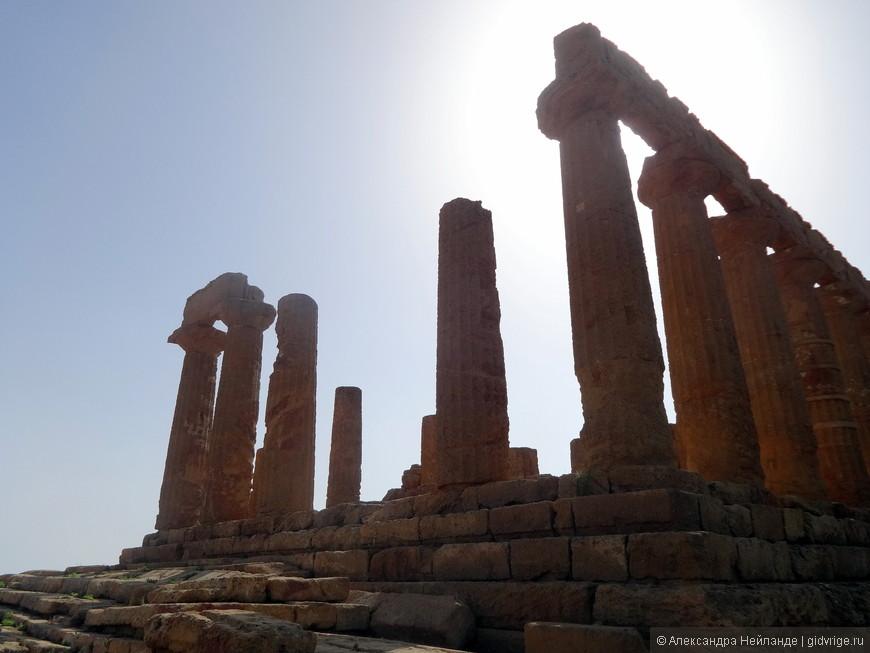 Храм Геры (Юноны). Самое высокое место.