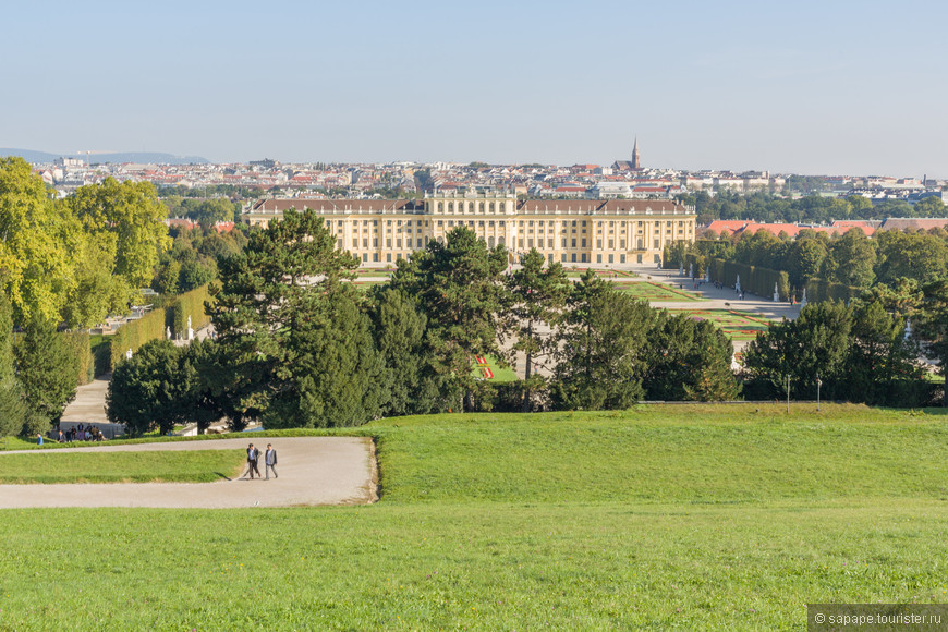 Виды дворца Шенбрунн.