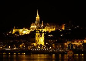 Ночной Будапешт.