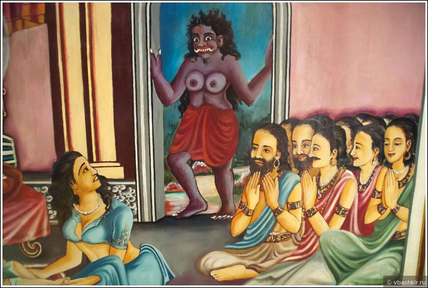 Уверен, у этой картины из храма есть какое-то полное смысла описание!