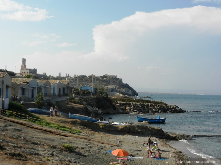 городок Портопало - самая южная точка Сицилии